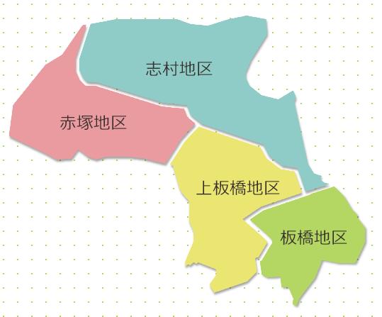 板橋区4地区マップ